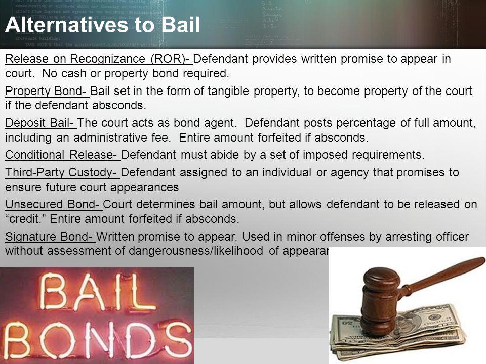 Alternatives to Bail