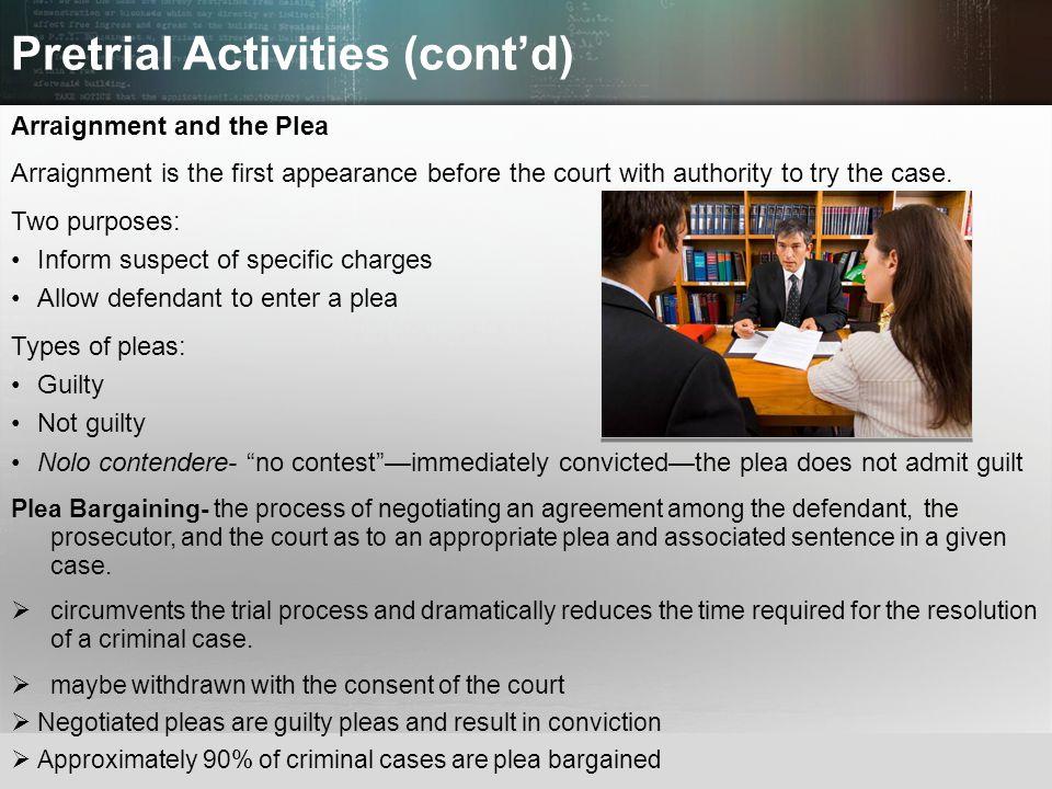 Pretrial Activities (cont'd)