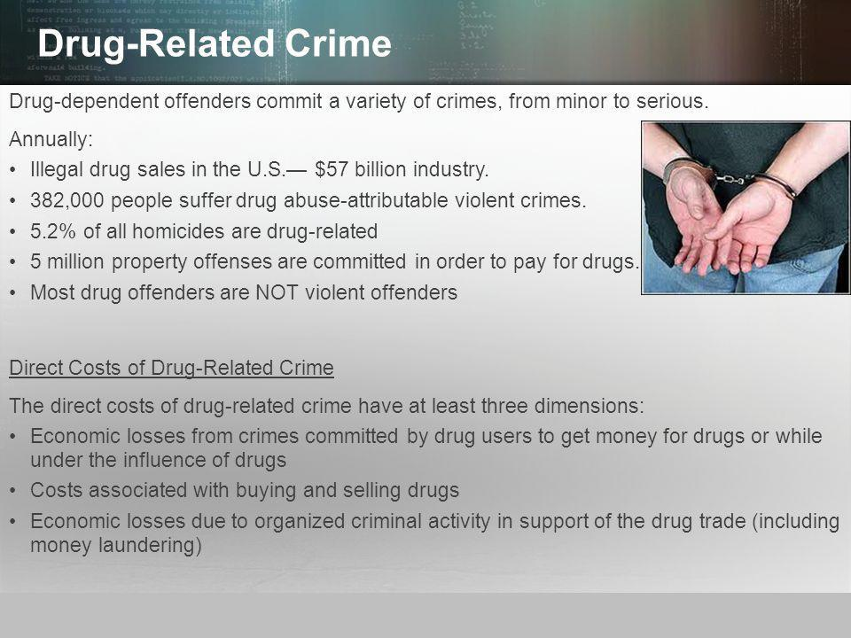 the drug crime relationship Drugs, crime, and their relationship provides an overview and analysis of the many facets of the drug-crime relationship it explores the relevant research on the.