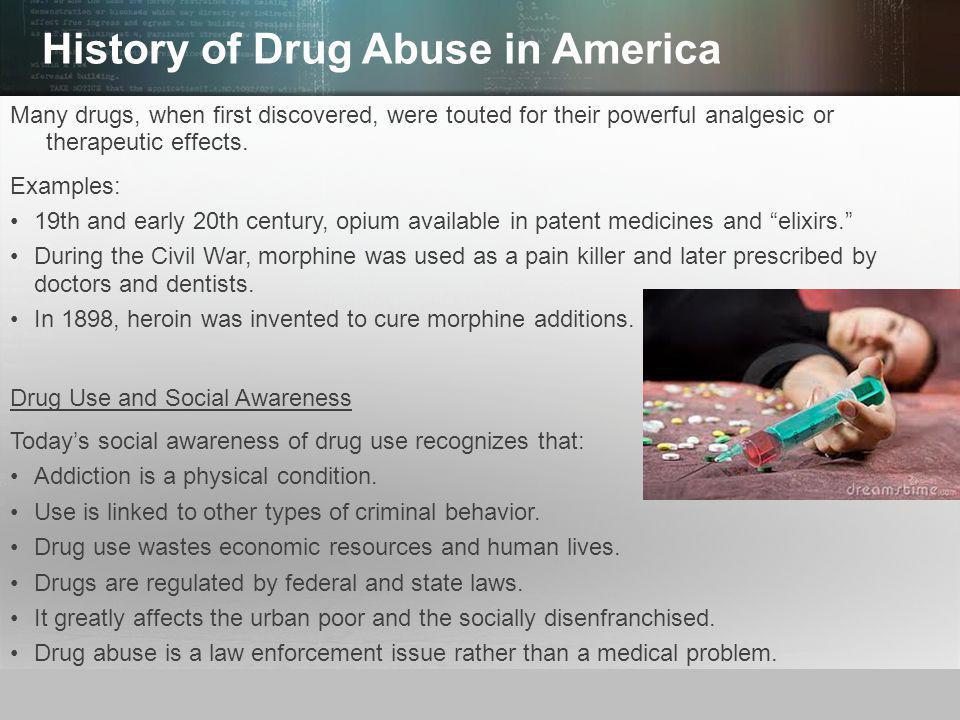 The problem of drug abuse in the united states of america