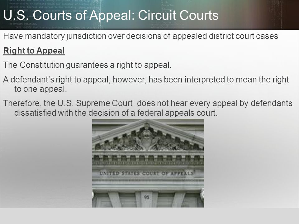 U.S. Courts of Appeal: Circuit Courts