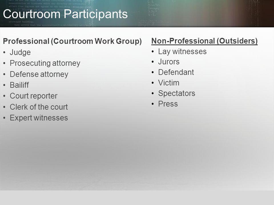 Courtroom Participants