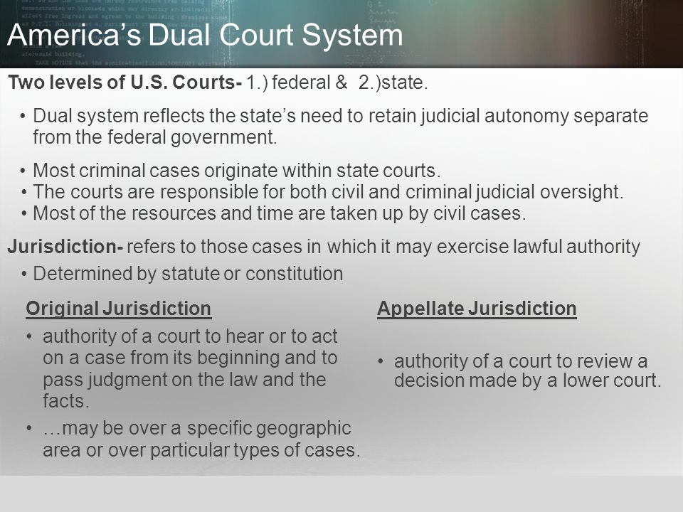 America's Dual Court System