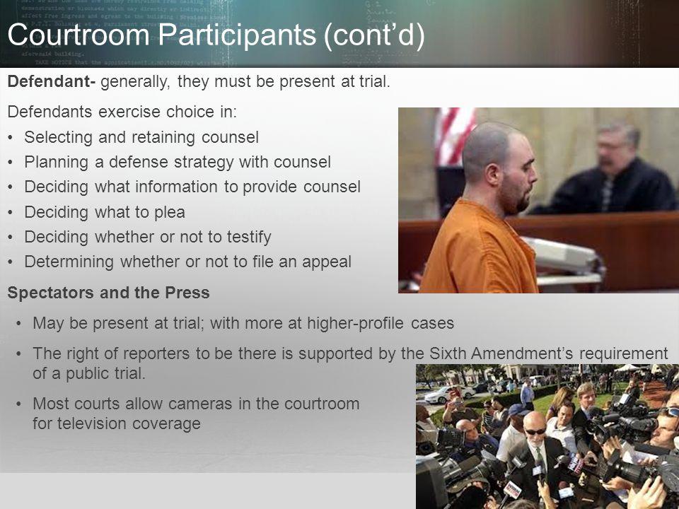 Courtroom Participants (cont'd)
