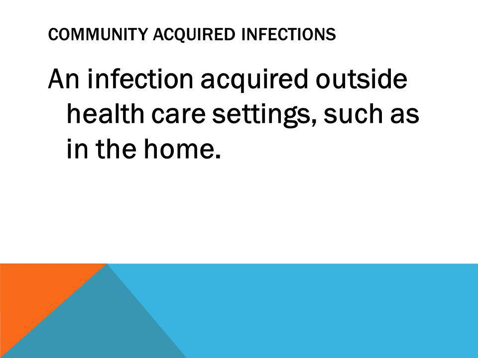 Community Acquired Infections