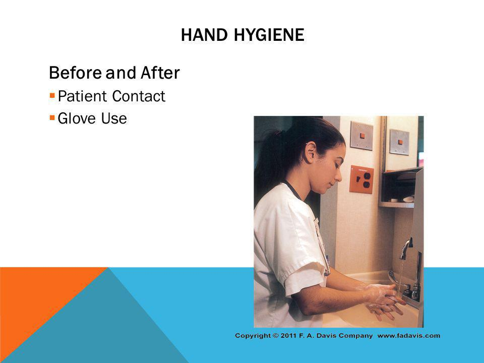 Hand Hygiene Before and After Patient Contact Glove Use
