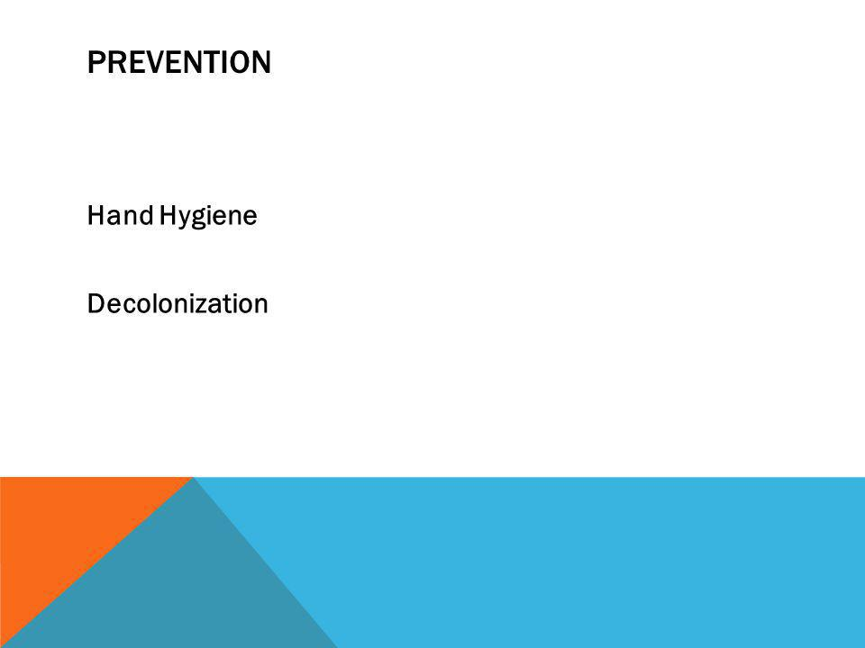 Prevention Hand Hygiene Decolonization