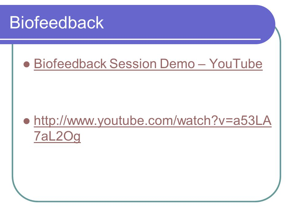 Biofeedback Biofeedback Session Demo – YouTube