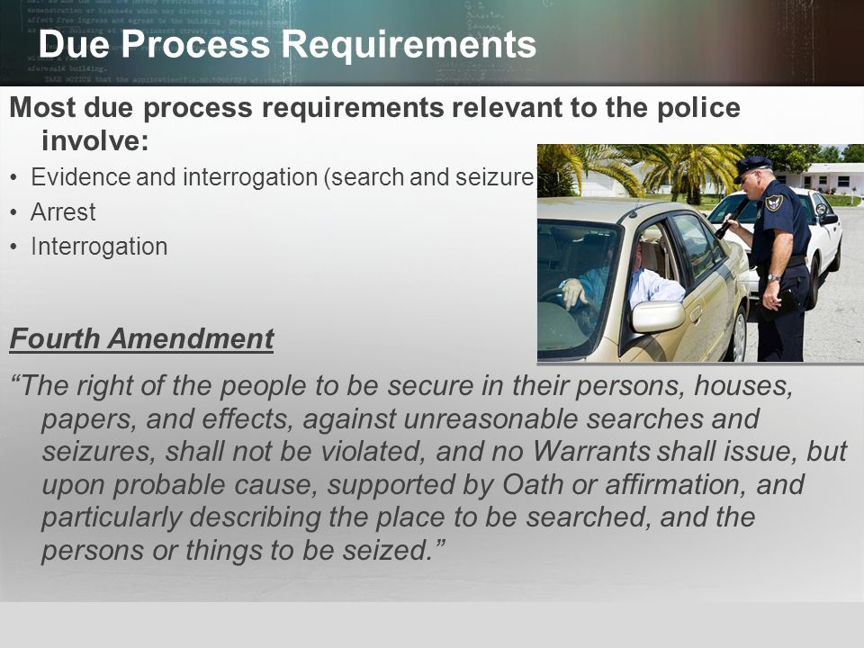 Due Process Requirements