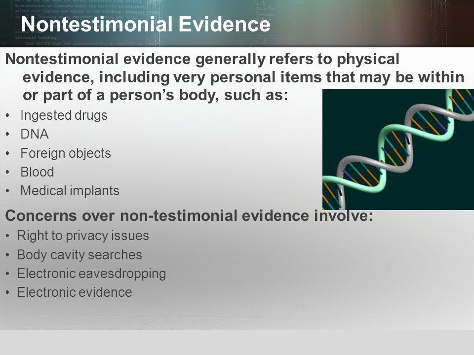 Nontestimonial Evidence