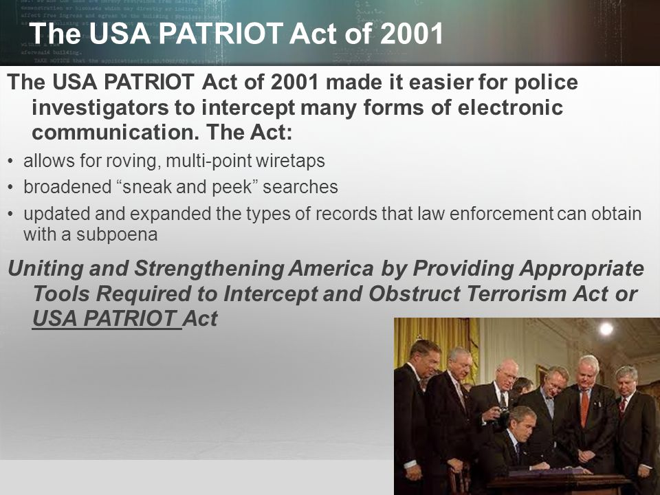 the us patriot act