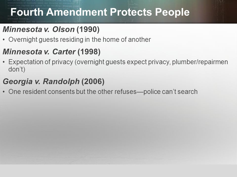 Fourth Amendment Protects People