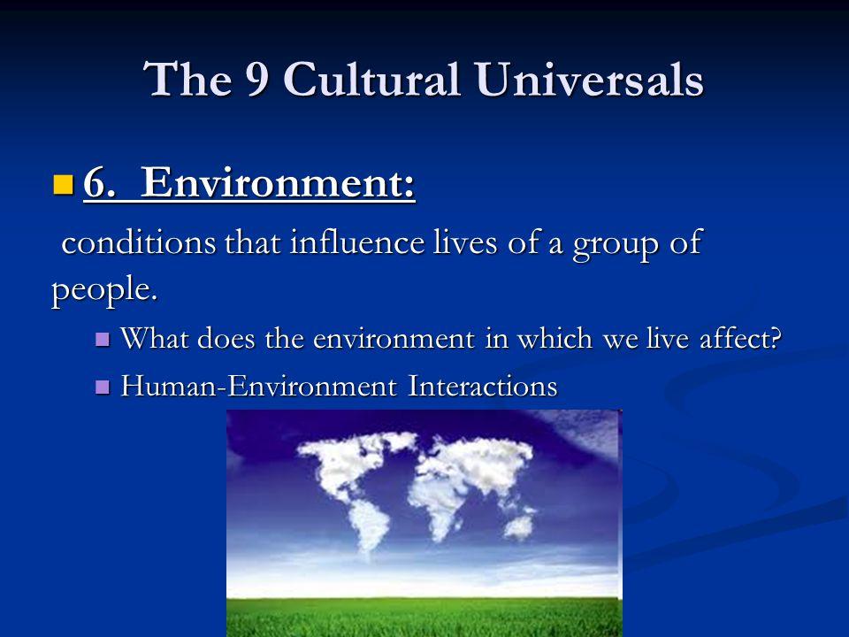 The 9 Cultural Universals
