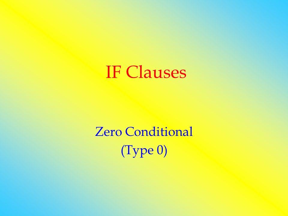 Zero Conditional (Type 0)