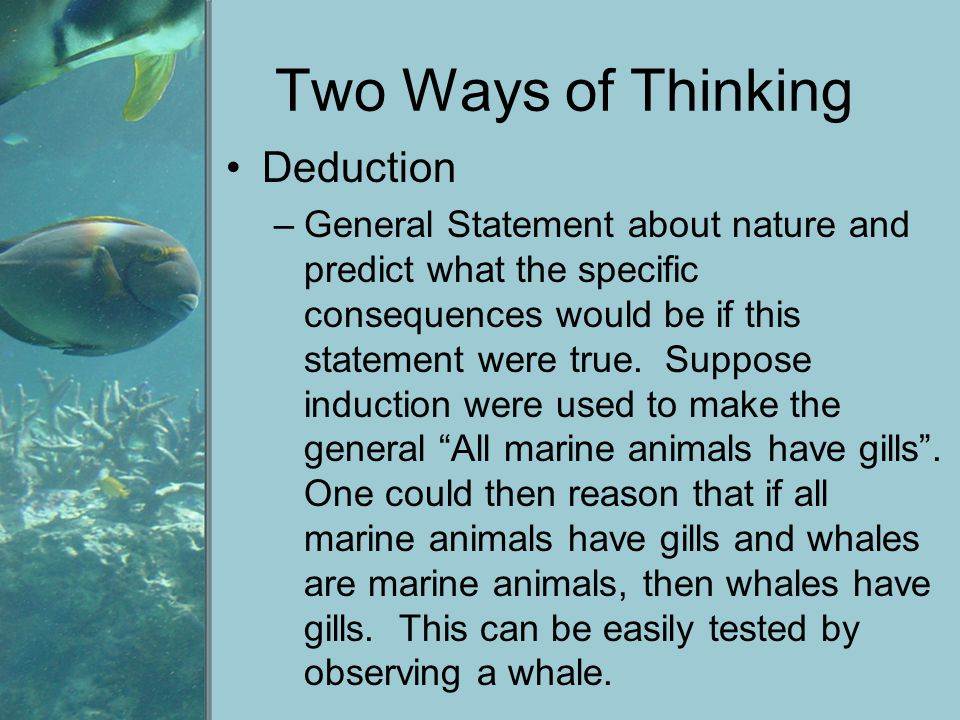 Two Ways of Thinking Deduction