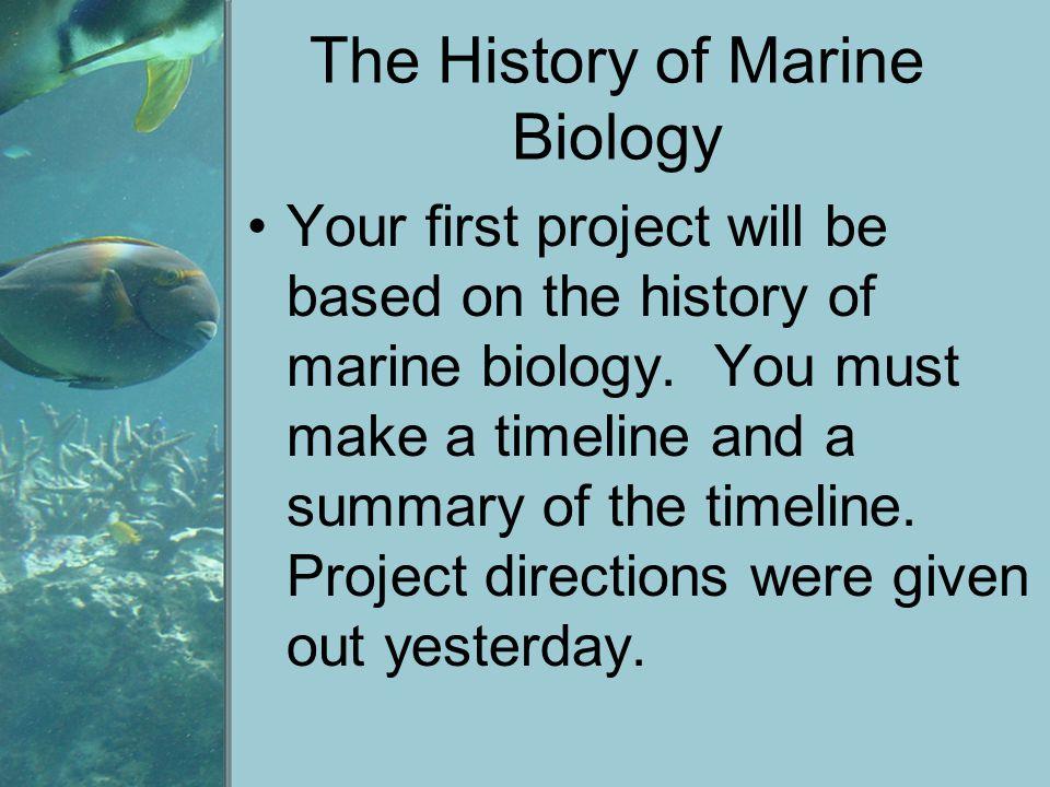 The History of Marine Biology