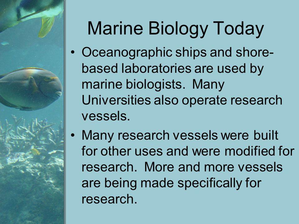 Marine Biology Today
