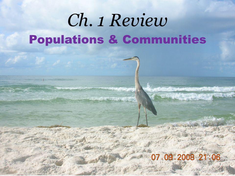 Populations & Communities