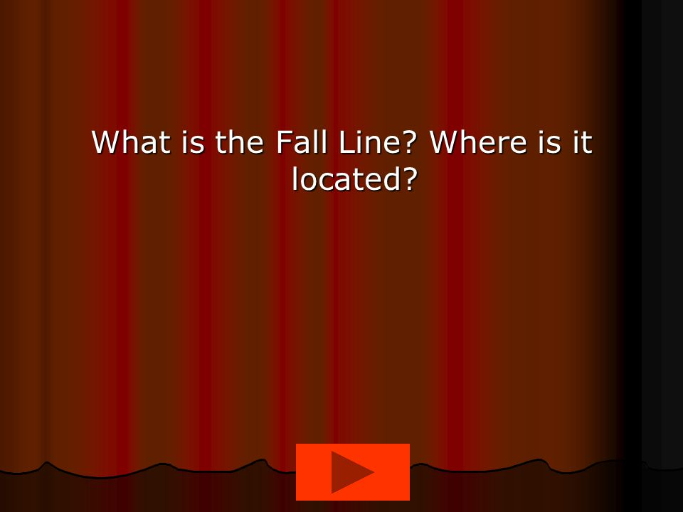 What is the Fall Line Where is it located