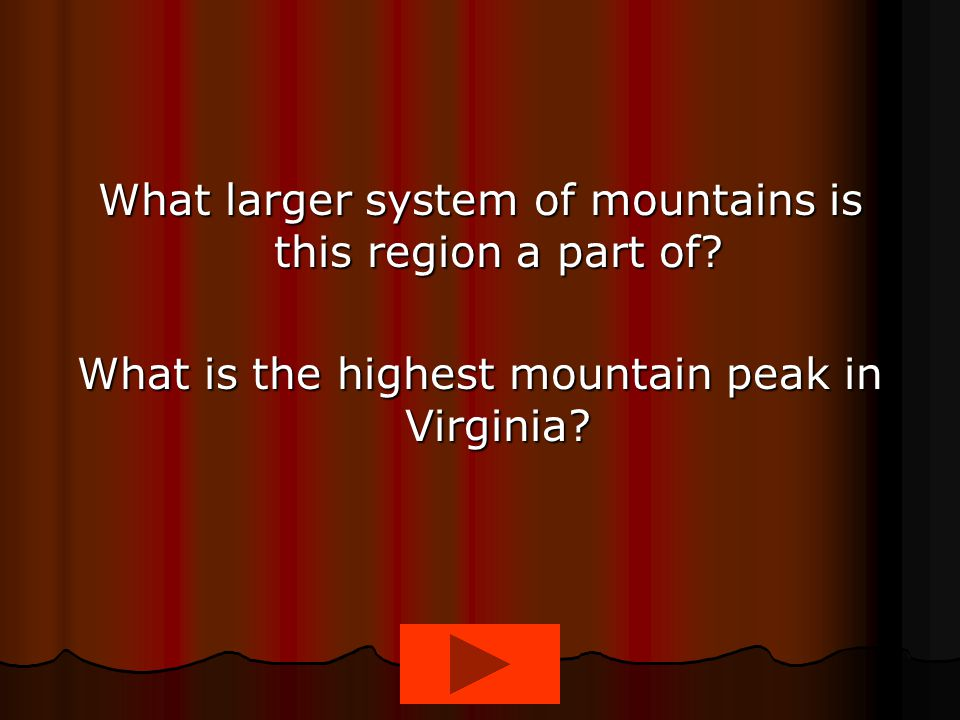 What larger system of mountains is this region a part of
