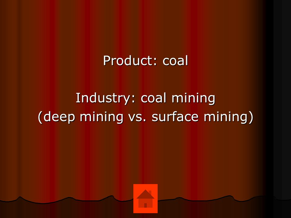 (deep mining vs. surface mining)