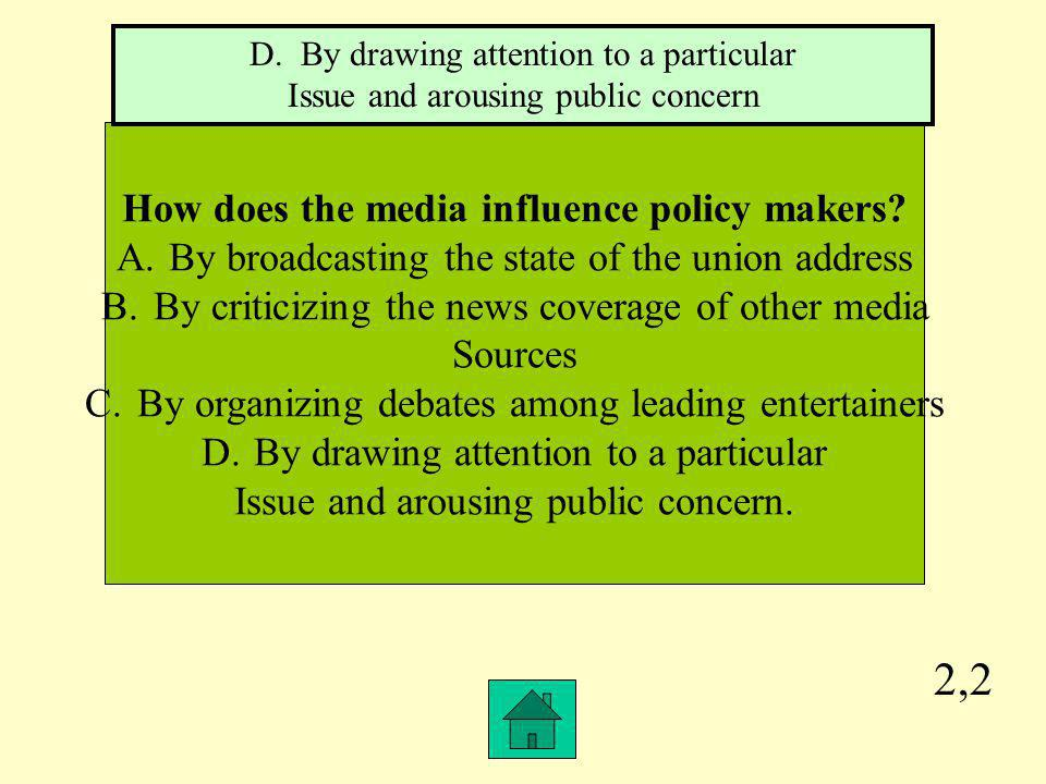 How does the media influence policy makers
