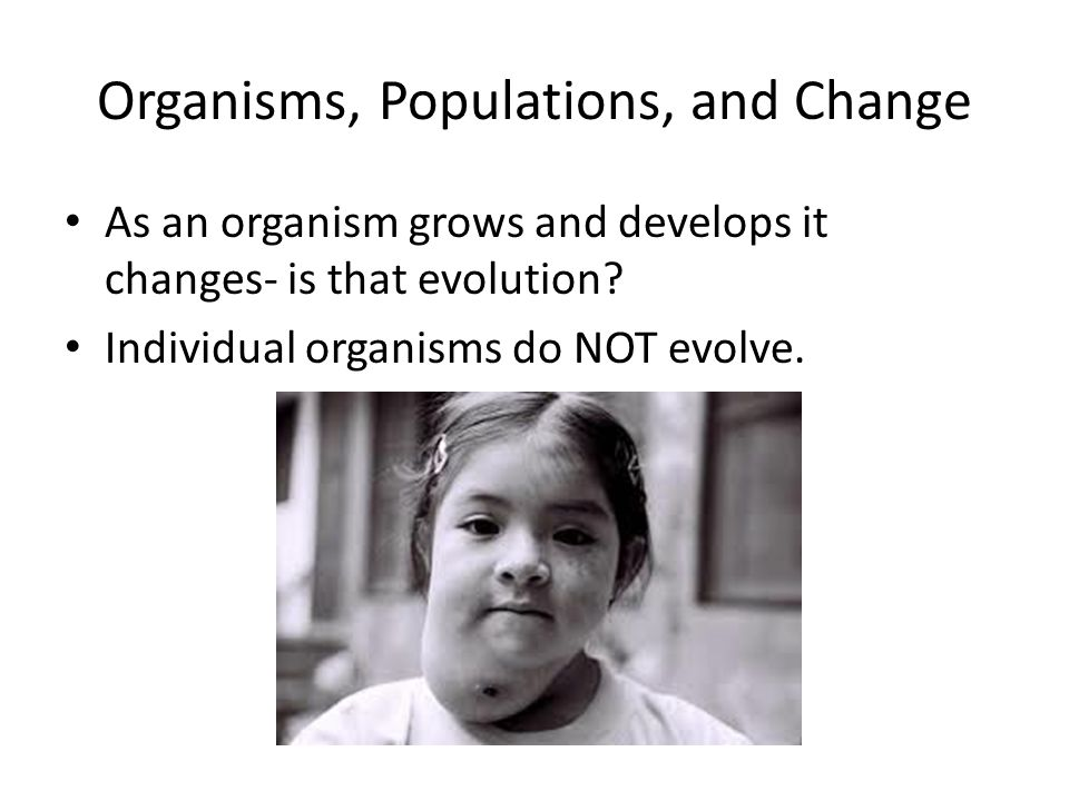 Organisms, Populations, and Change