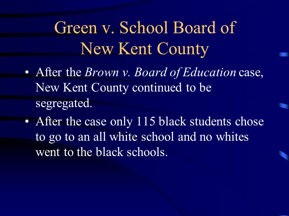 Green v. School Board of New Kent County