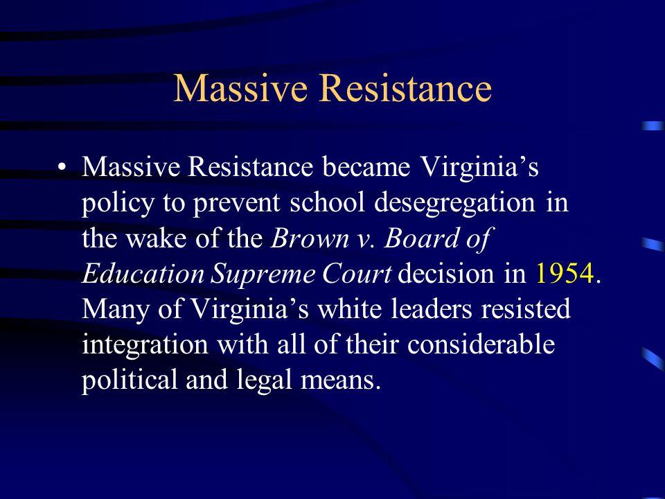 Massive Resistance
