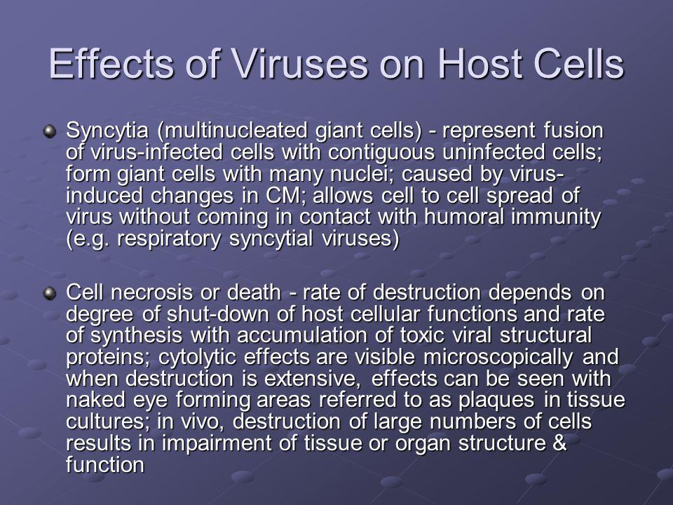 Effects of Viruses on Host Cells