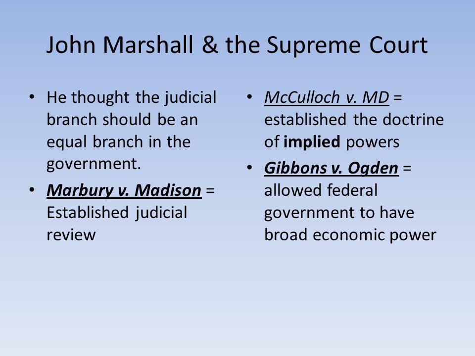 John Marshall & the Supreme Court
