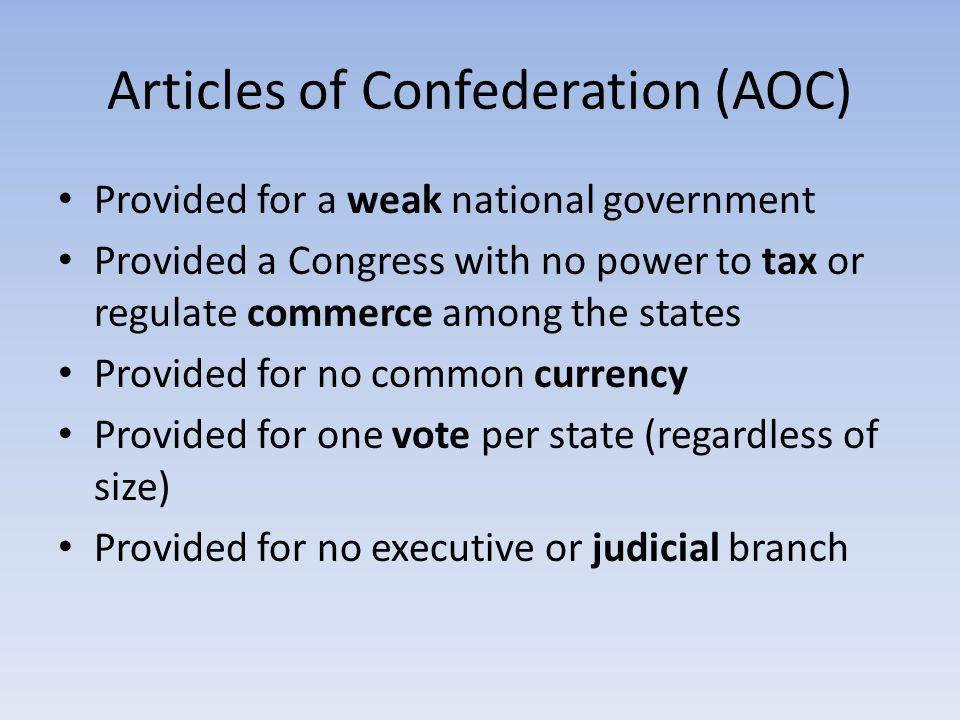 Articles of Confederation (AOC)