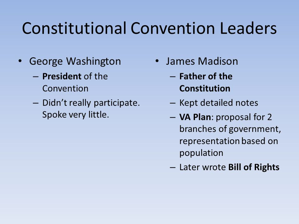 Constitutional Convention Leaders