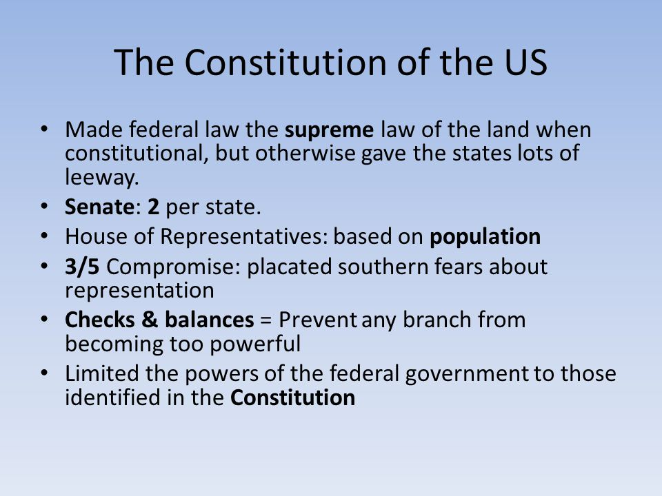 The Constitution of the US