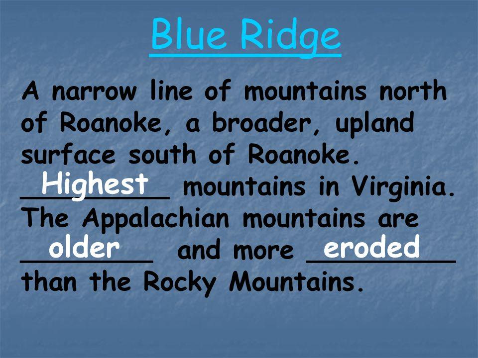Blue Ridge Highest older eroded
