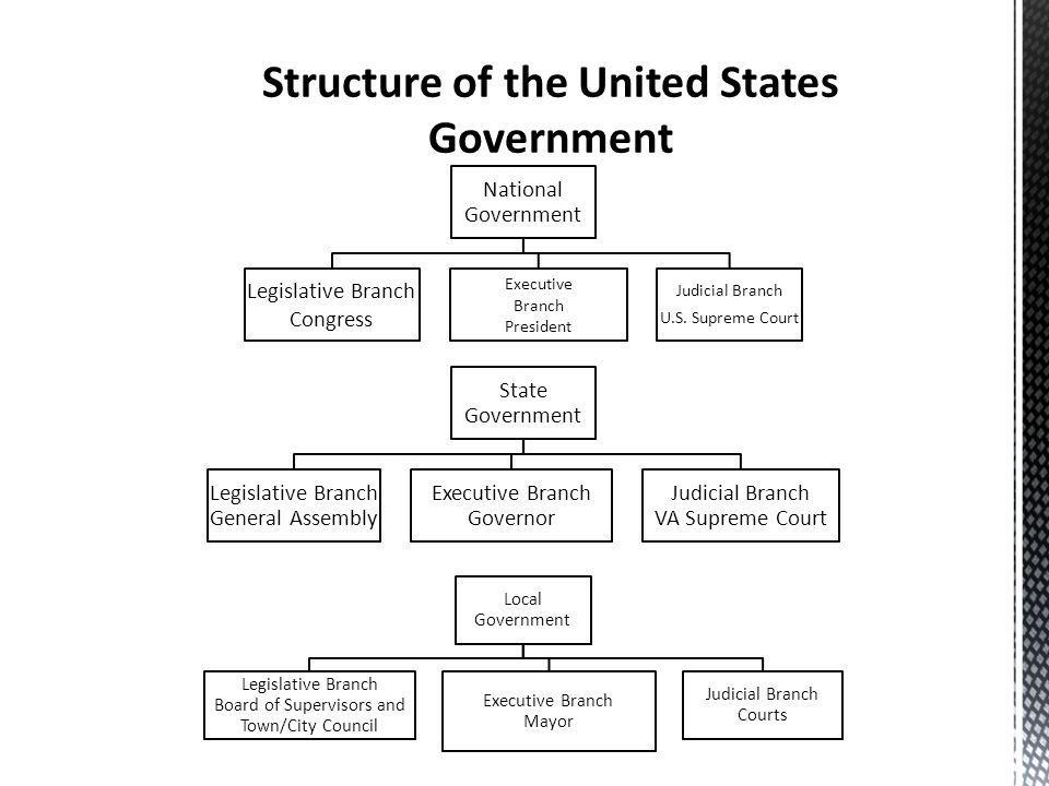 an introduction to the components of executive branches in the united states government The united states government essay - the united states government consists of three branches: the legislative, executive, and judicial branches.