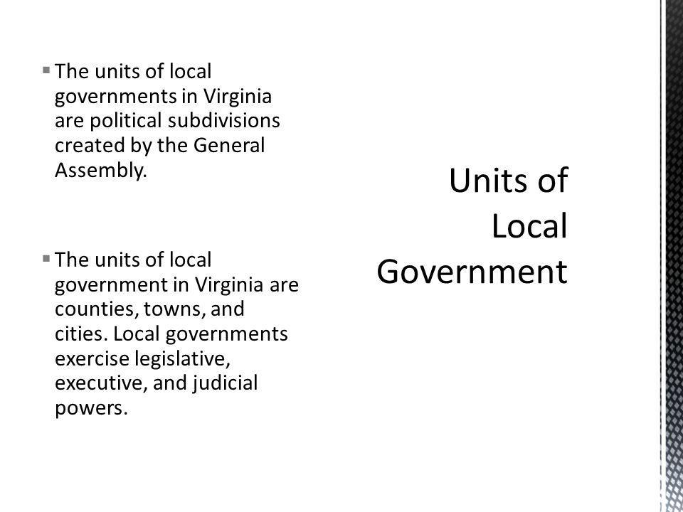 Units of Local Government
