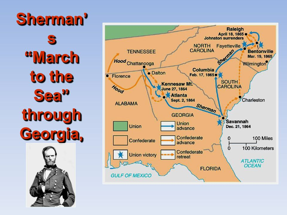 Sherman's March to the Sea through Georgia, 1864