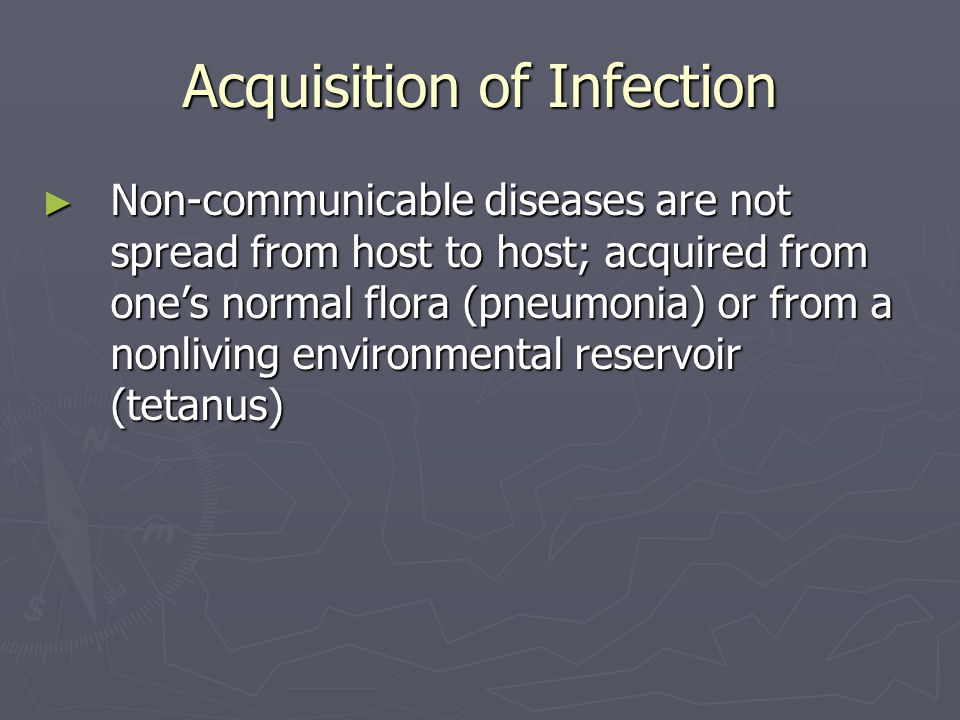 Acquisition of Infection