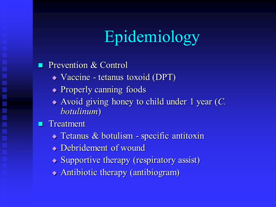 Epidemiology Prevention & Control Vaccine - tetanus toxoid (DPT)