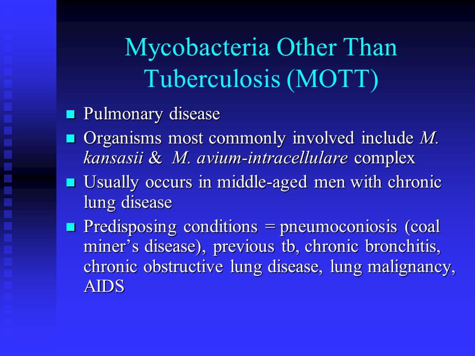Mycobacteria Other Than Tuberculosis (MOTT)