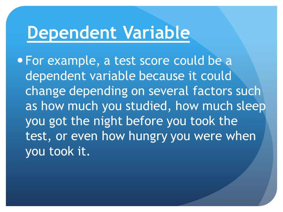test relationship between independent dependent variable