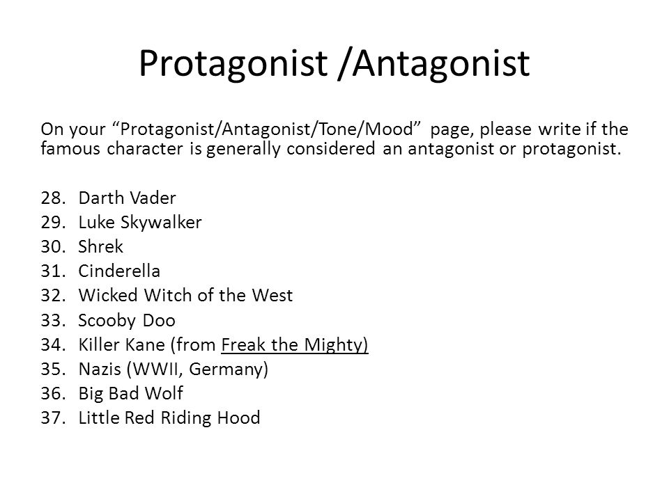 Figurative Language GROUP TWO ppt video online download – Protagonist and Antagonist Worksheet
