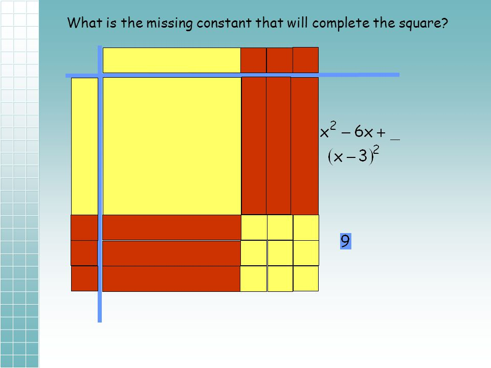 What is the missing constant that will complete the square