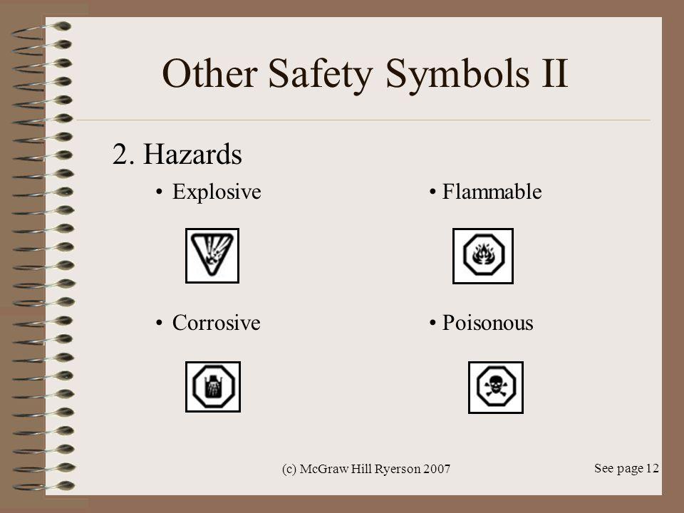 Other Safety Symbols II
