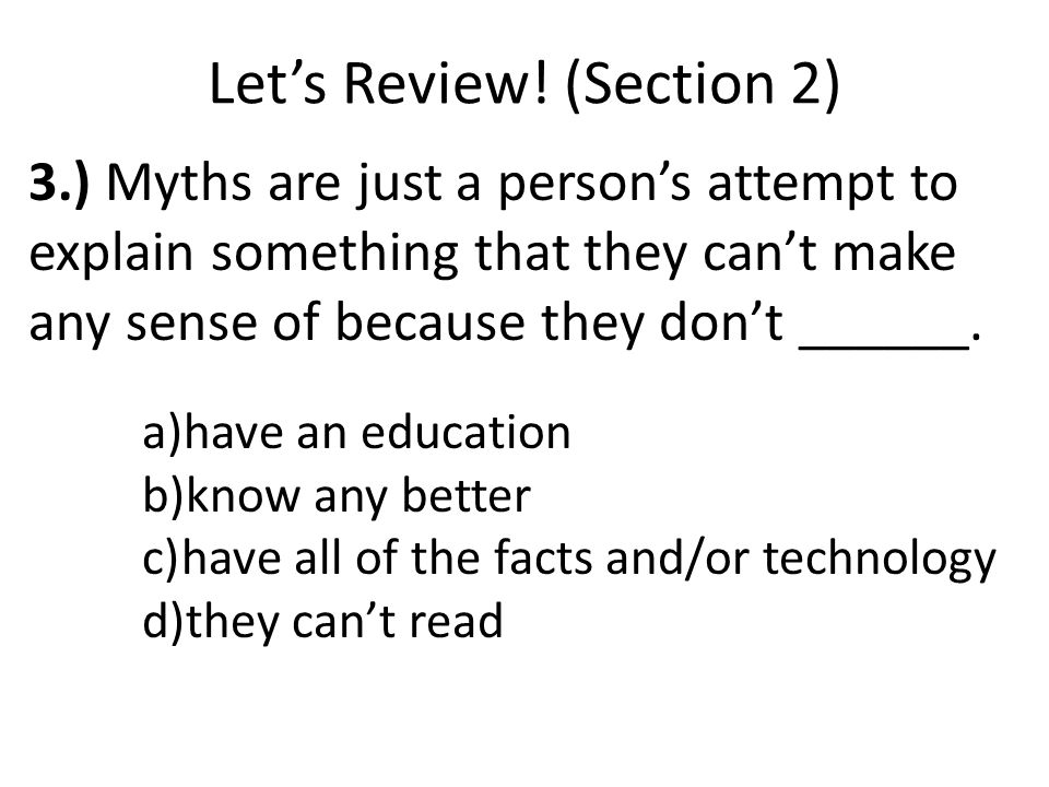 Let's Review! (Section 2)