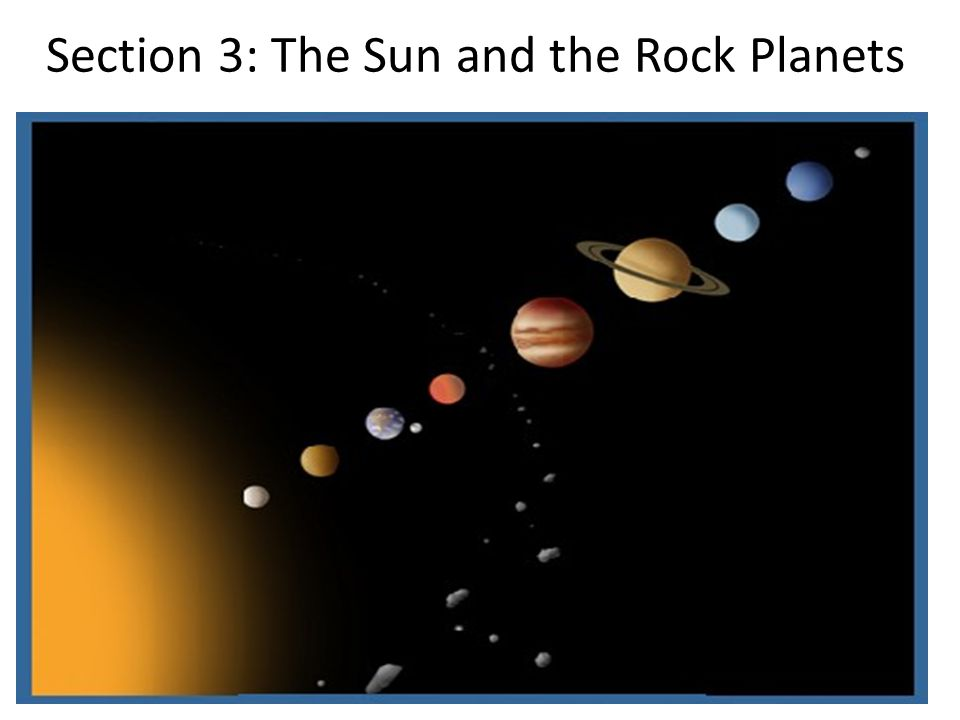Section 3: The Sun and the Rock Planets