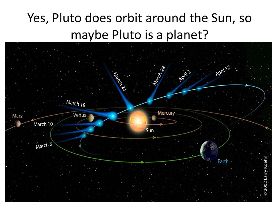 Yes, Pluto does orbit around the Sun, so maybe Pluto is a planet