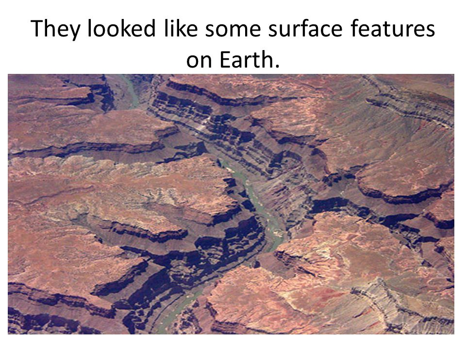 They looked like some surface features on Earth.