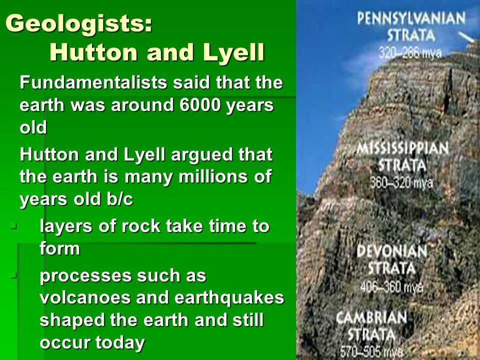 Geologists: Hutton and Lyell
